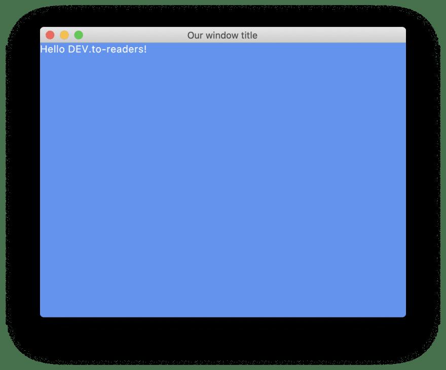 Minimal application window running