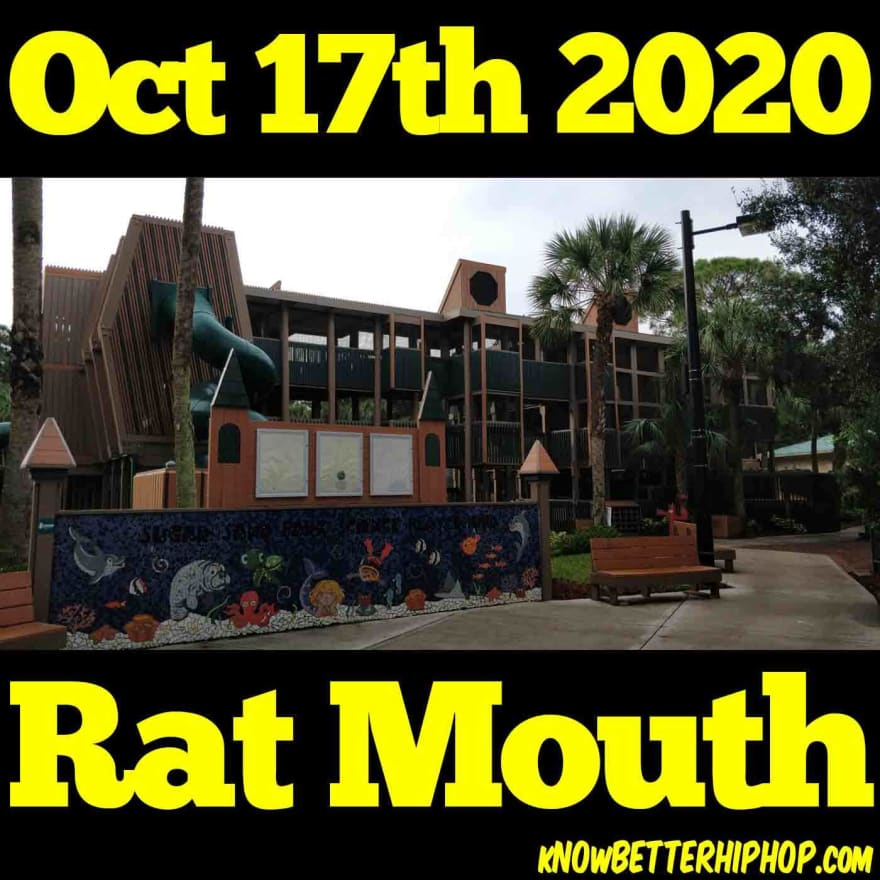 Radio show episode image of a 3 story jungle gym in Sugar Sand Park in Boca Raton, Florida with the words Oct 17th 2020, Rat Mouth