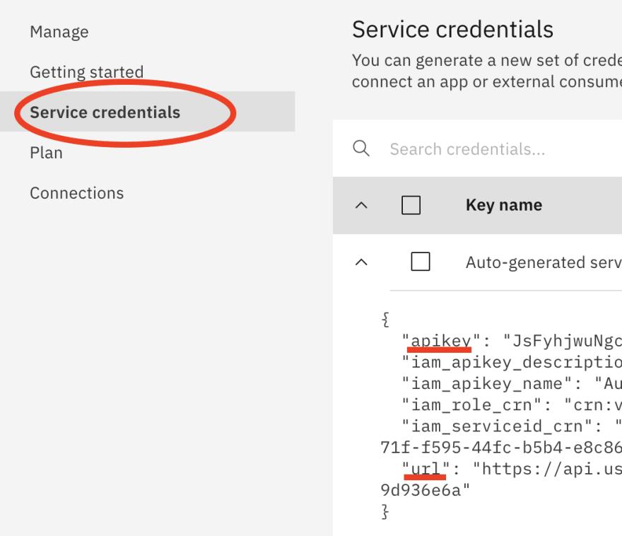 Copy API Key and URL