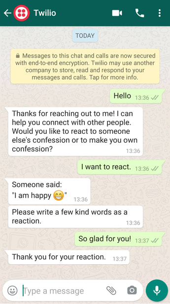 reacting to confession