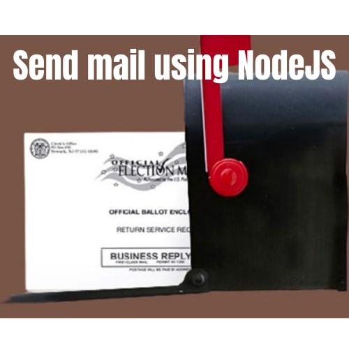Send mail using NodeJS