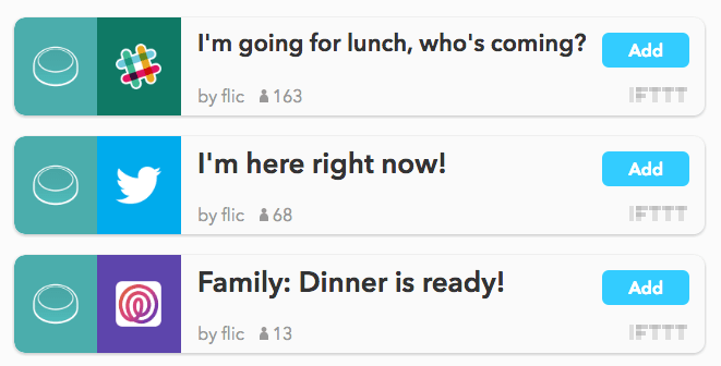 IFTTT integration. Idea: button to buy more FLIC buttons.