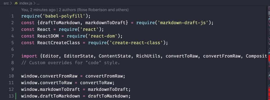 Code snippet of defining methods on window
