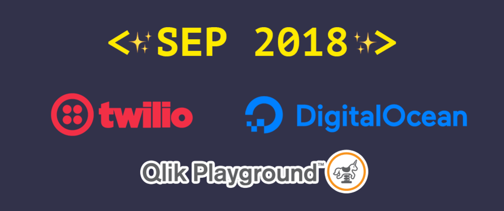 Cover image for Introducing our September 2018 sponsors