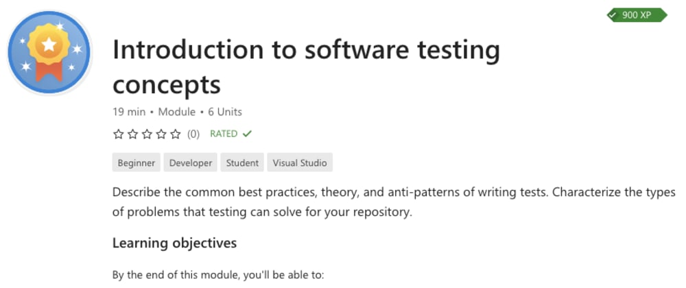 Cover image for Introduction to software testing in .NET