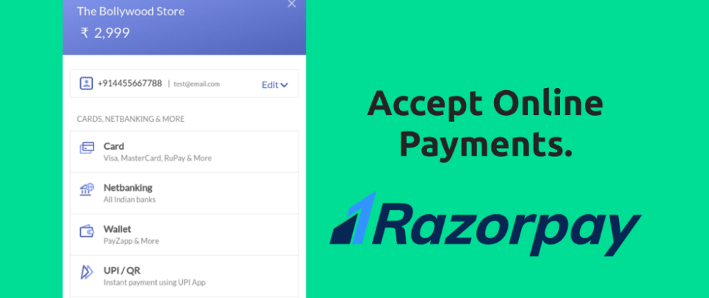 How to accept payments using Razorpay in your site (with a live demo)