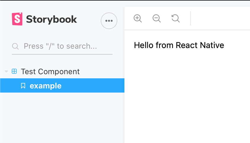 Storybook web running react native components