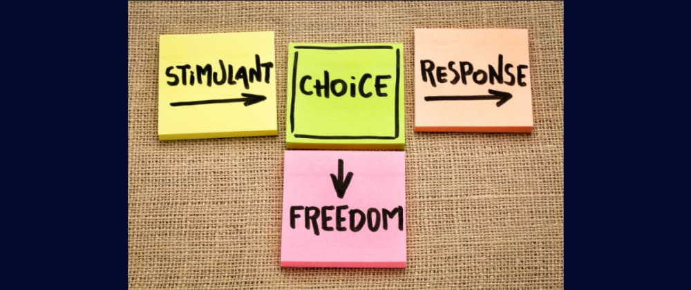 Cover image for Between Stimulus and response - We have freedom of Choice