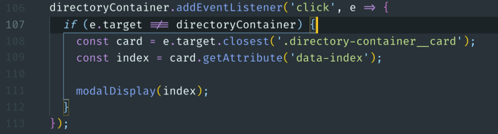 Bracket pair colorizer VSCode extension screenshot