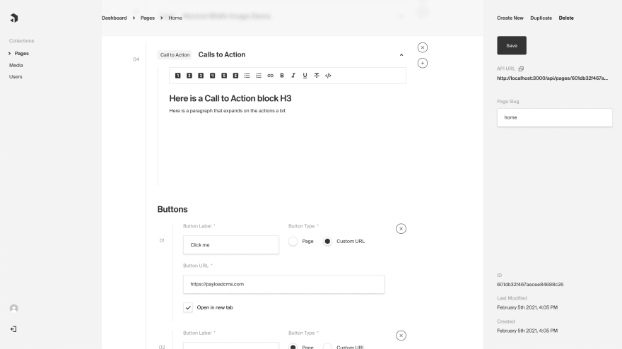 Payload Admin Panel