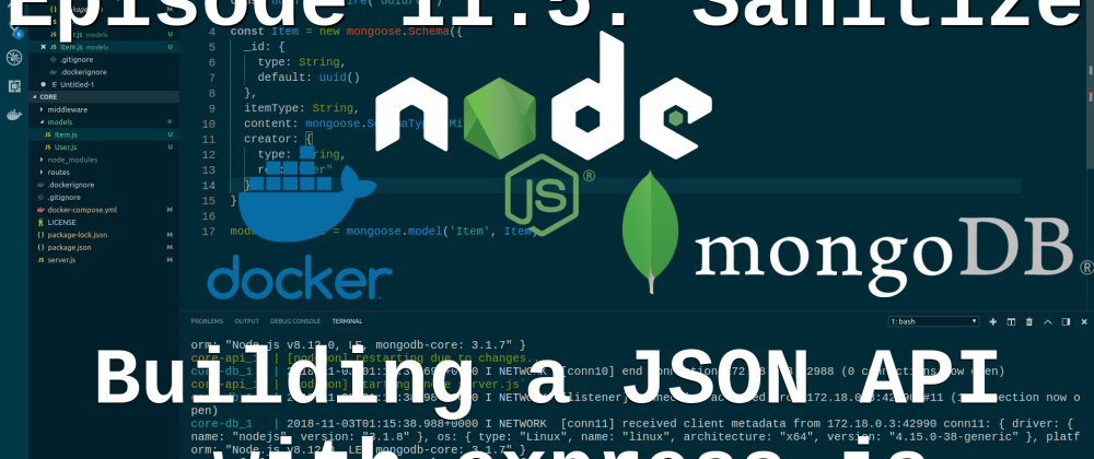 Cover image for Episode 11.5: Building a JSON API - Input Validation and Sanitation - Lightning Round