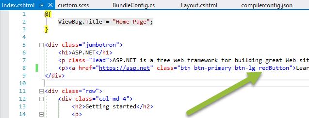 Add custom class to Index View