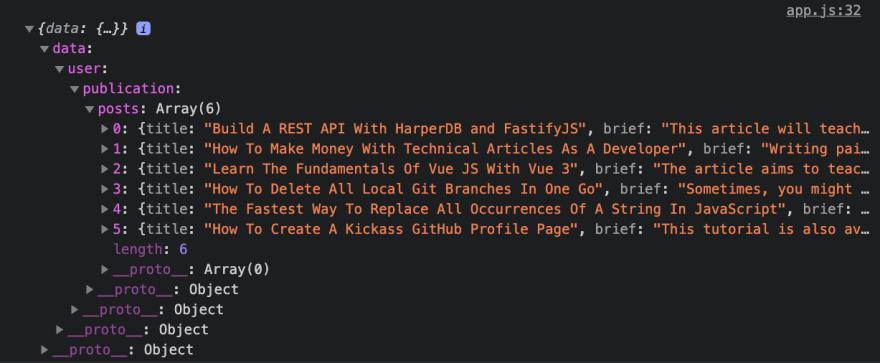 API response example