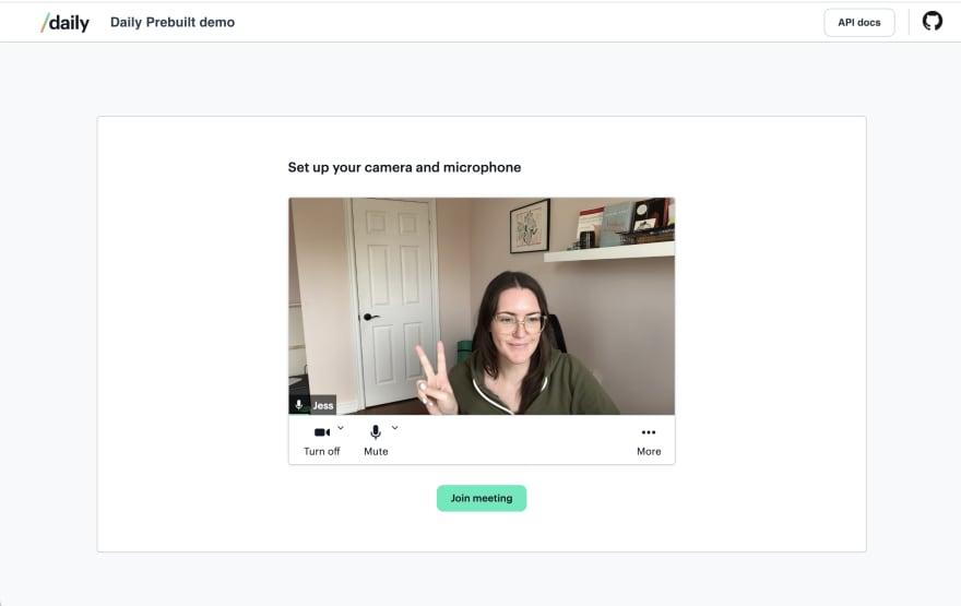 Prejoin UI in Daily Prebuilt