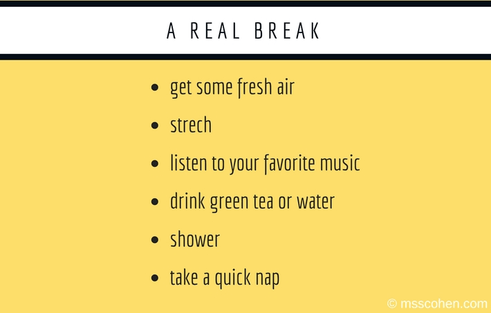 a real break