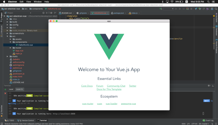 Creating a Simple OCR Application with Electron, Vue js & Tesseract