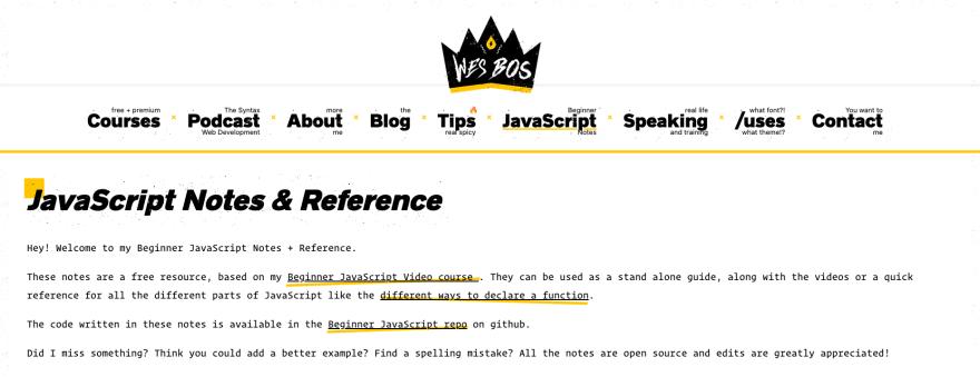 https://wesbos.com/javascript