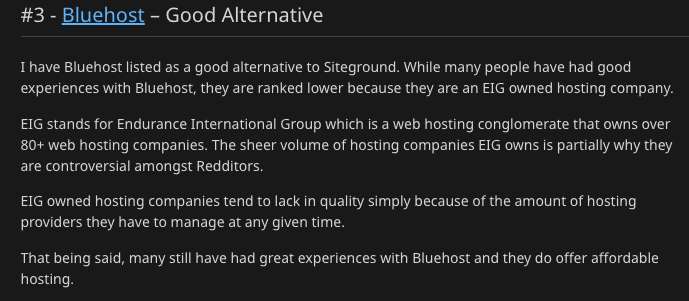 blue host opinion reddit