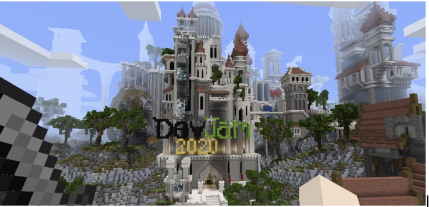 shows the minecraft environment for opennms devjam 2020