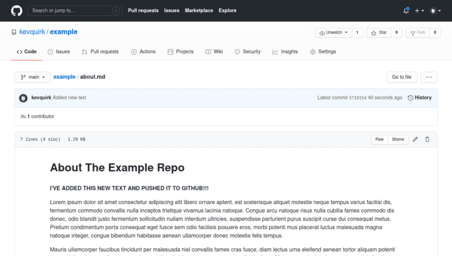 About.md example commit