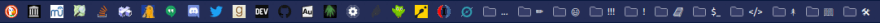 A cluttered bookmarks bar