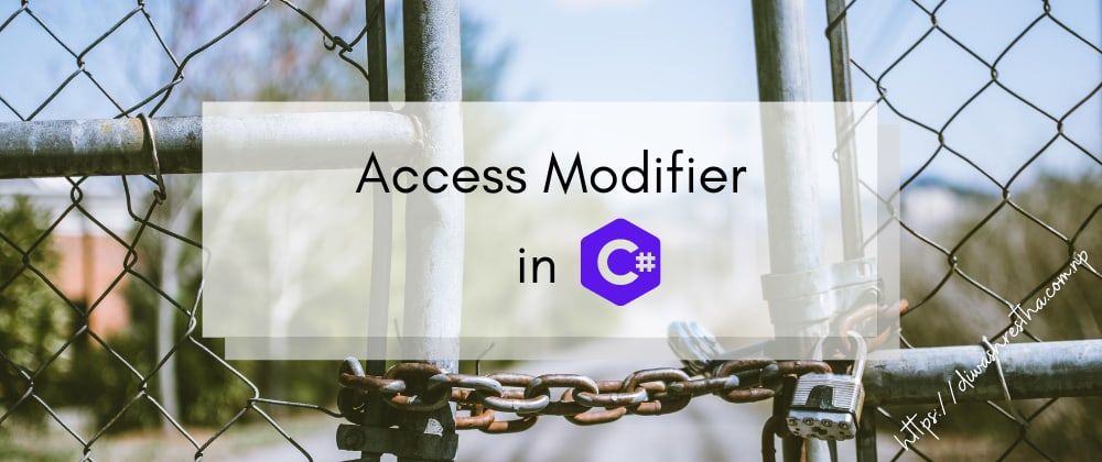 Cover image for C# Access Modifiers
