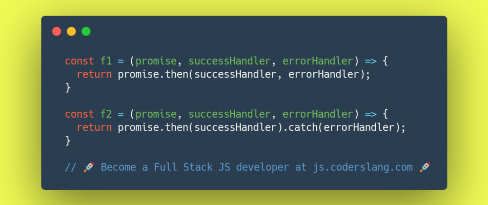 Cover image for JavaScript Interview Question #27: Handling errors in JavaScript Promise chains