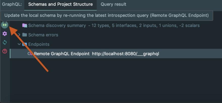 Graphql update local schema from endpoint