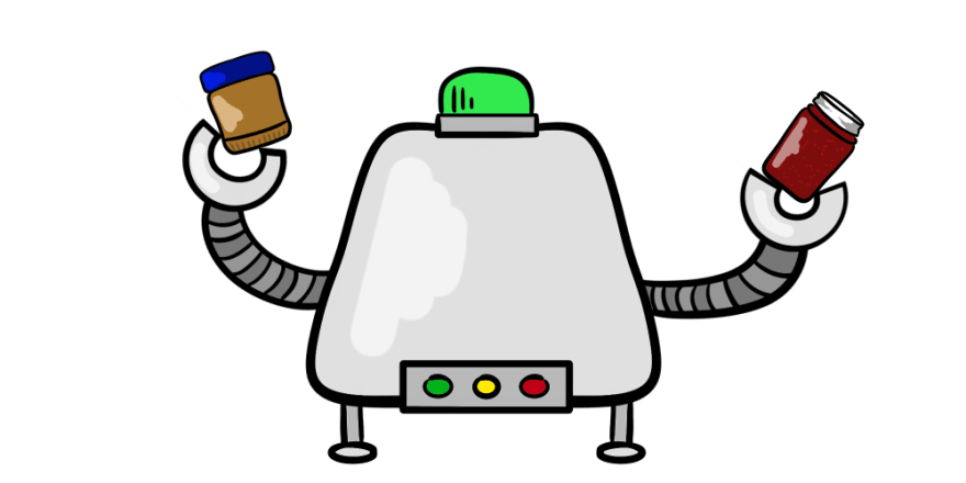 Peanut butter and jelly sandwich robot