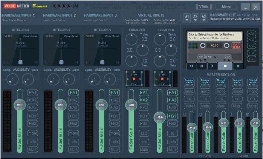 Screenshot of Voicemeeter