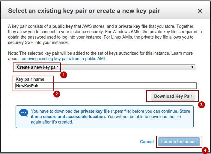 Create New Key Pair
