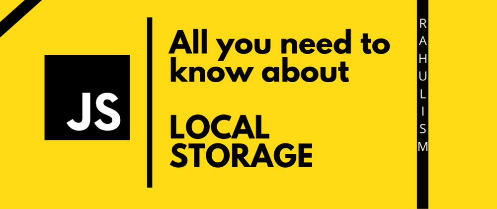 Cover image for What is localStorage?