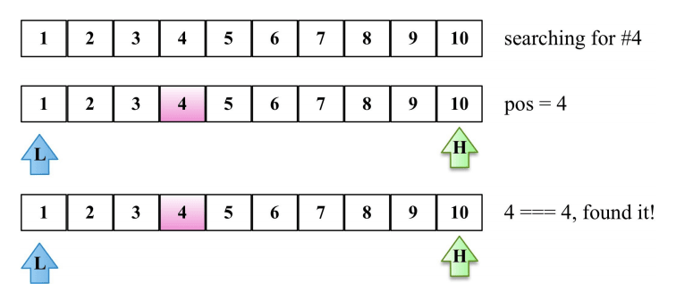 interpolation search example