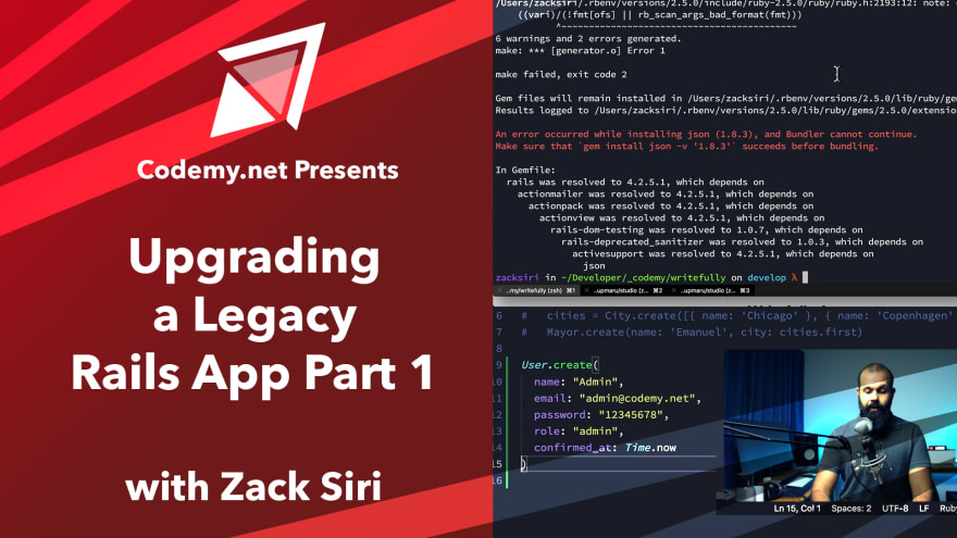 Upgrading Legacy Rails App Part 1