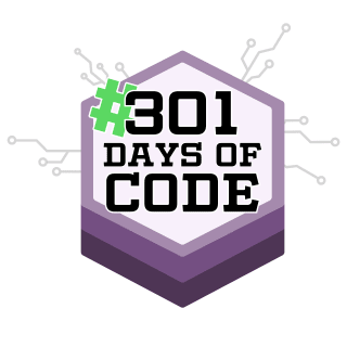 301daysofcode profile