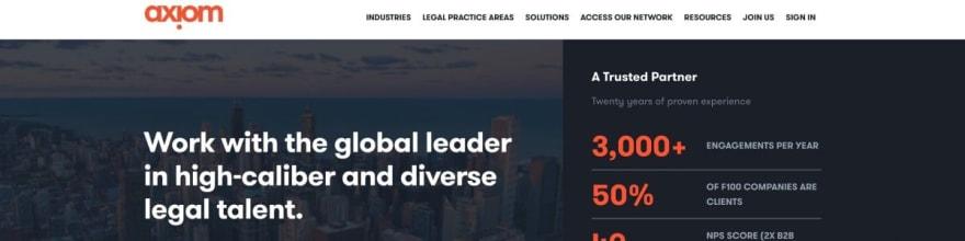 Axiom Law website