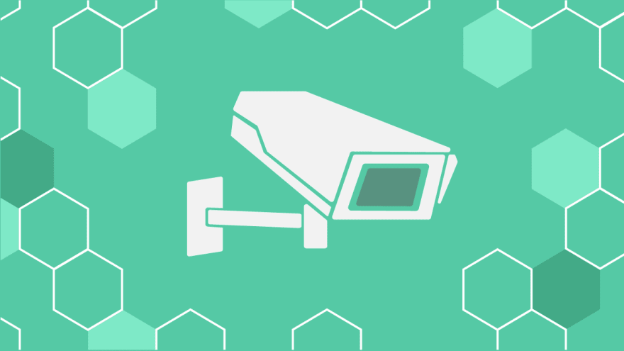 illustrated security camera