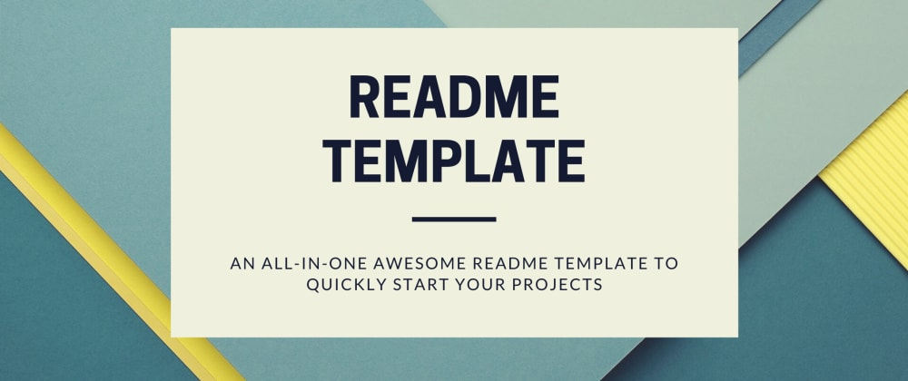 Cover image for README Template - The only one you need for perfect readme