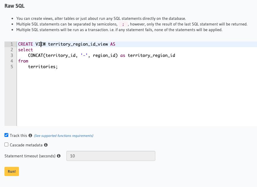 hasura graphql distributed sql yugabytedb tips and tricks concat
