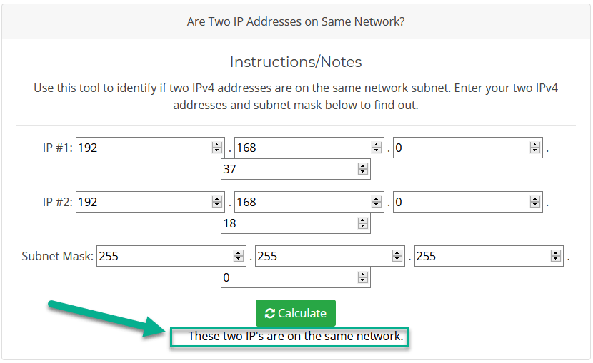 Check for subnets
