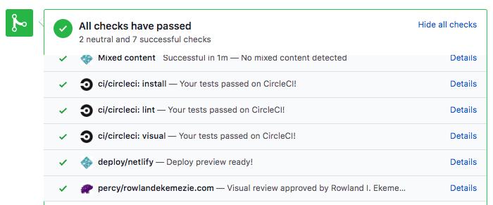 check passed