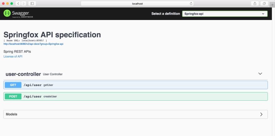 Swagger-2 API documentation for Spring