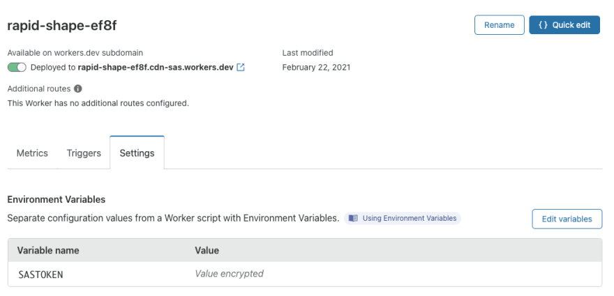 Adding an environment variable