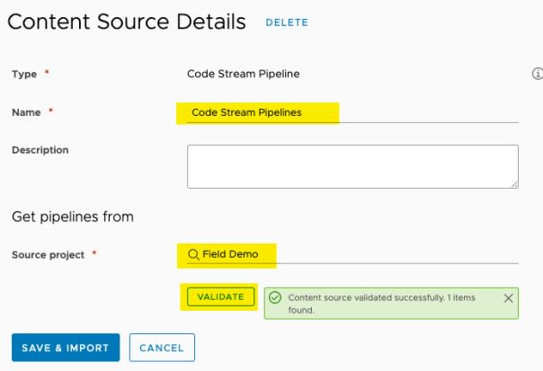 vRA Deploy Tanzu Guest Cluster - Service Broker - Create new Content Source - Content Source Details