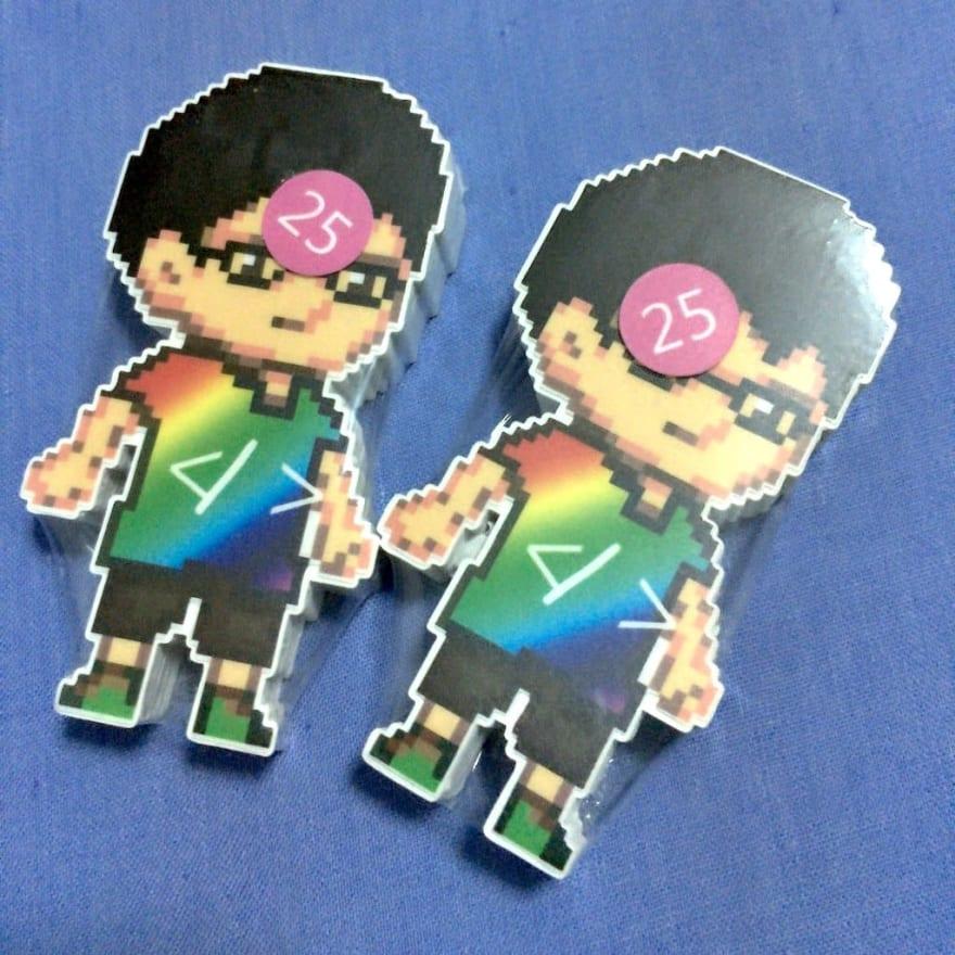 Hui Jing's avatar stickers, from StickerHD