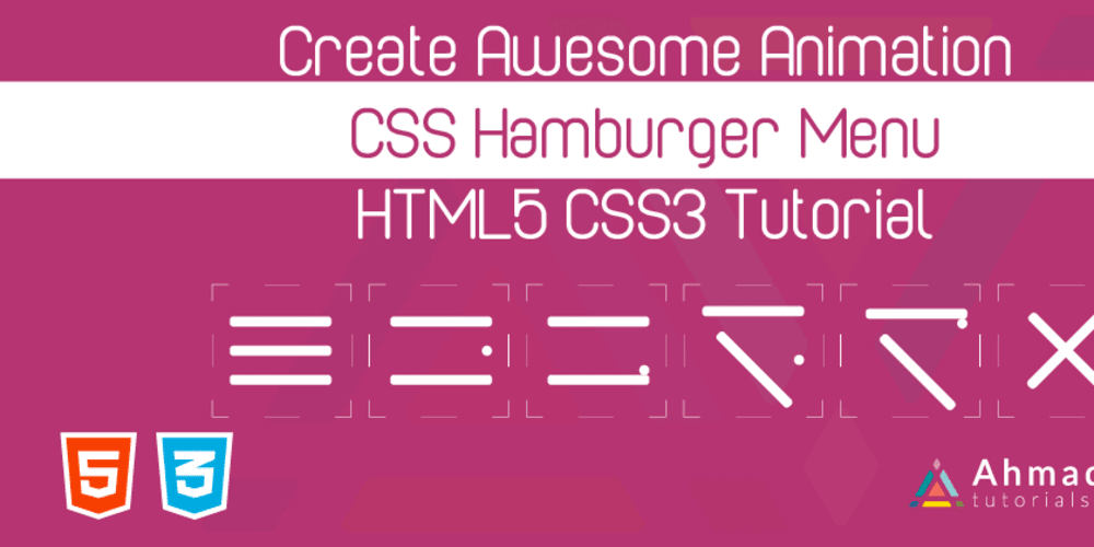 Awesome CSS Animation Hamburger Menu - DEV Community 👩💻👨💻