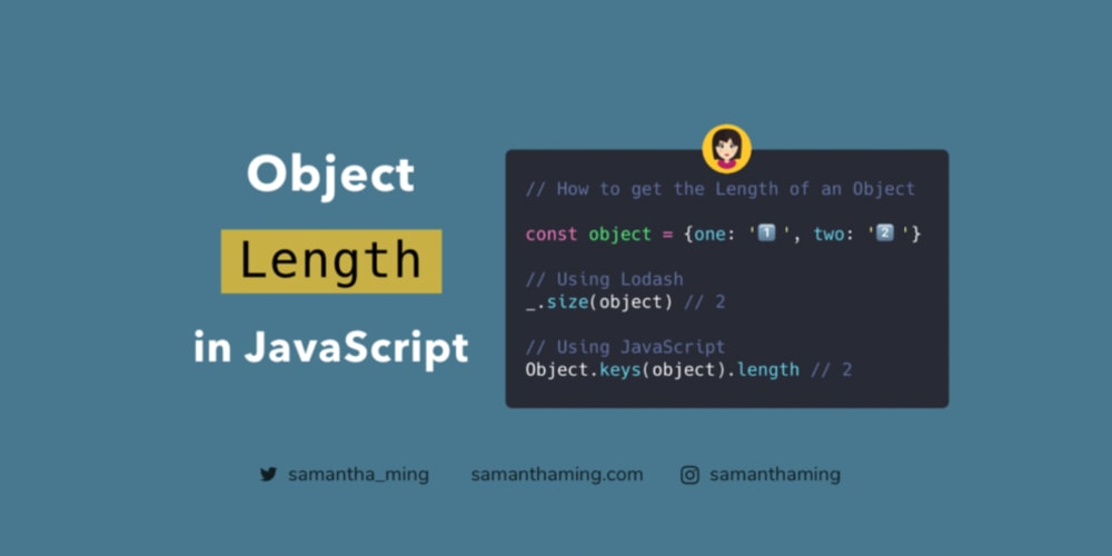 How To Get An Object Length Dev Community