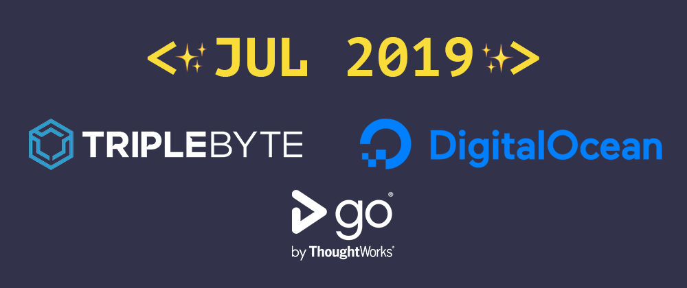 Cover image for Introducing our July 2019 sponsors