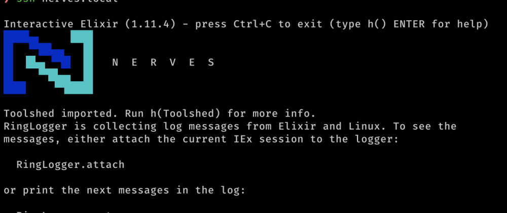 Cover image for Customizing IEx for Elixir Nerves target device