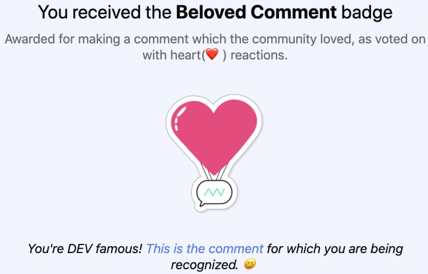 Beloved Comment badge